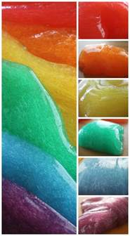 color slime rainbow slime how to make easy colored slime activity