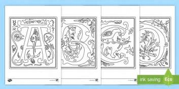 illuminated alphabet templates illuminated letters colouring pages letters illuminated