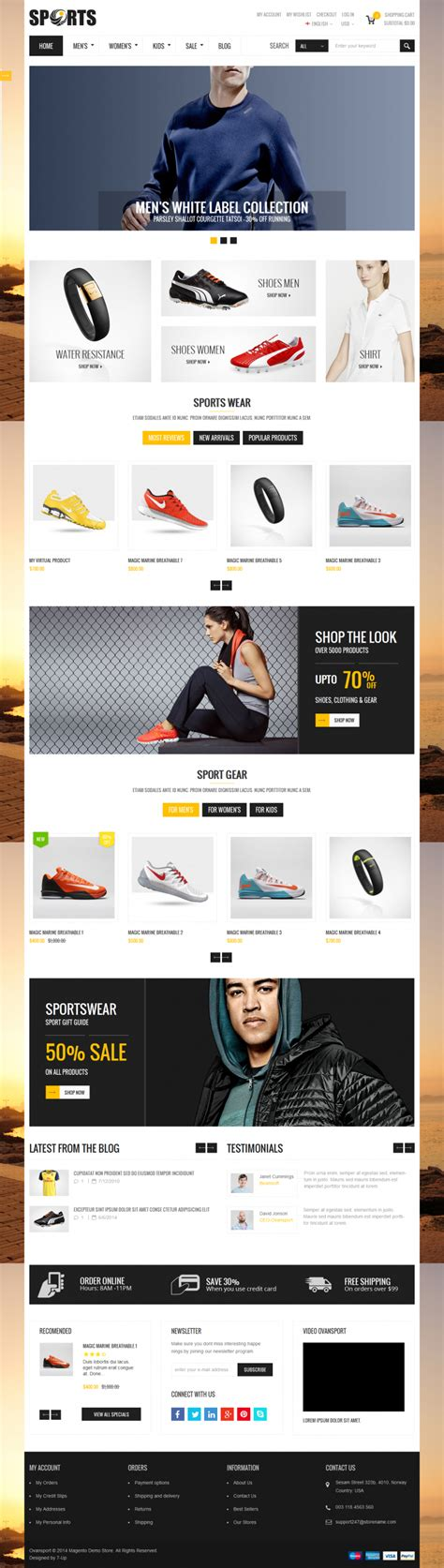 themeforest clean sport sport html template