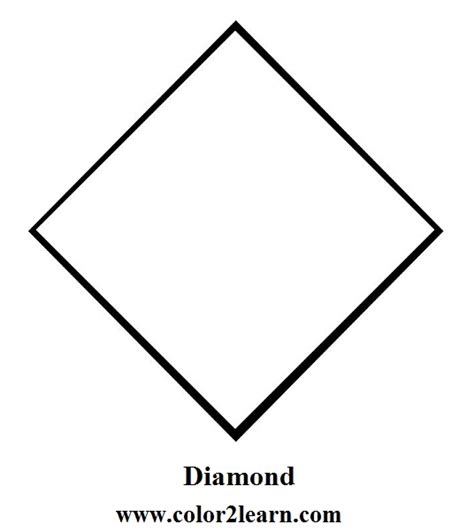 diamond coloring pages preschool free basic shapes coloring pages heart cube cylinder