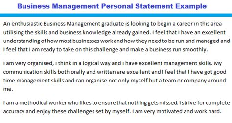 Best Words To Describe Yourself In A Resume by Business Management Personal Statement Example Forums