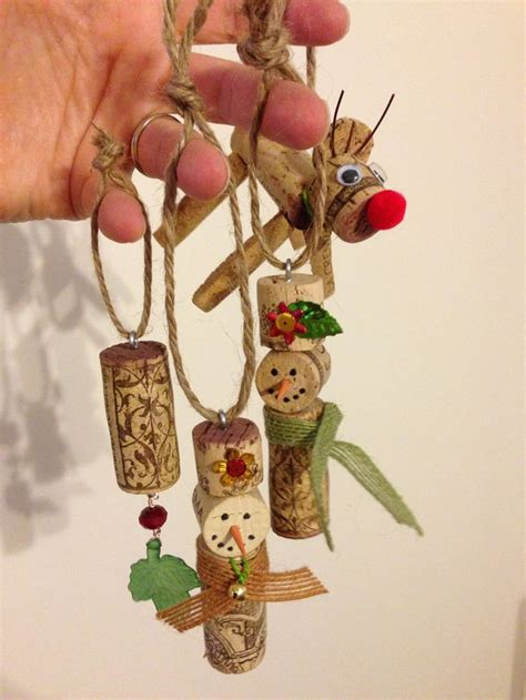 wine cork ornaments the most wonderful time of the year