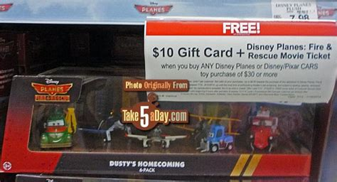 Gift Card Rescue Coupon - disney planes fire rescue toys r us week 1 bonus deal take five a day