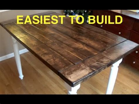 Kitchen Island Plans by How To Build A Farmhouse Kitchen Table Complete And Easy