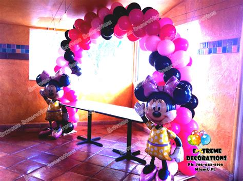 And Black Minnie Mouse Decorations by Decorations Miami Balloon Sculptures
