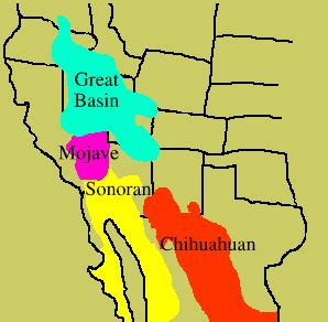 great basin american map mbg deserts of america