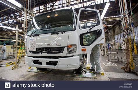 mitsubishi car manufacturer kawasaki japan 10th mar 2015 a staff worker of car
