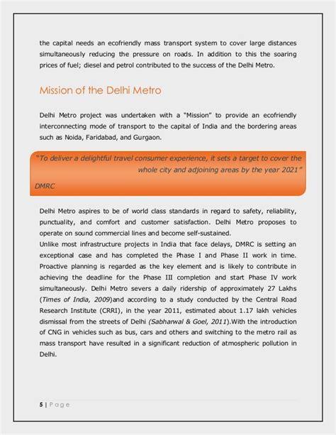 Study Kelayakan Proyek Ed 4 reserach study on delhi metro project