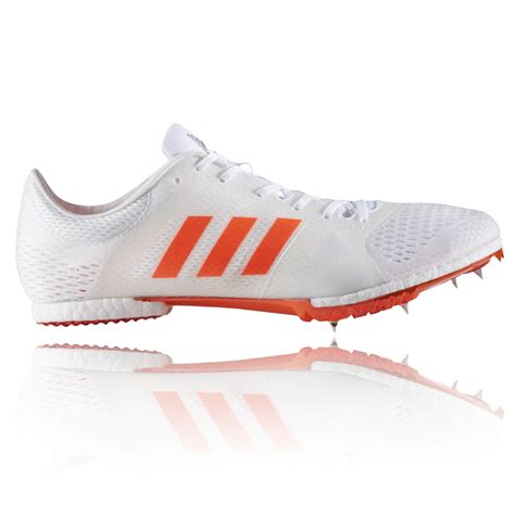 adidas adizero middle distance mens white orange running track spikes shoes ebay