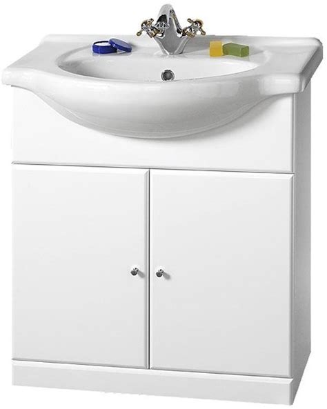 Kitchen Sink Davinci 84x49x21cm 750mm contour vanity unit with one ceramic basin