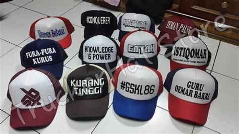Harga Murah Topi Anak Trucker Hat Jaring Murah jual topi trucker desain bebas custome topi design sendiri suka suka custom truckerhat