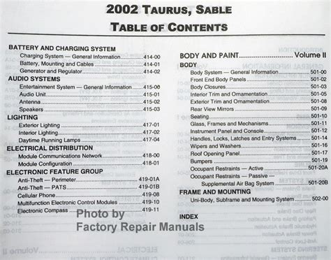 2002 mercury sable owners manual ebay service manual 2002 mercury sable repair manual pdf service manual 1994 mercury sable owners