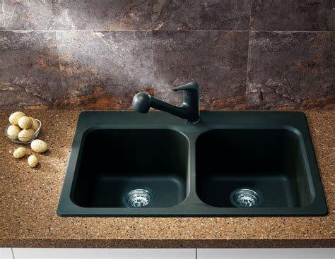 Blanco 400986 Vision Double Basin Drop In Or Undermount Non Scratch Kitchen Sinks