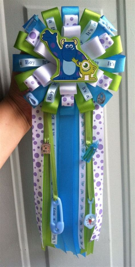 Baby Shower Boutonniere Ideas by Clearance Monsters Inc Baby Shower Corsage With Matching