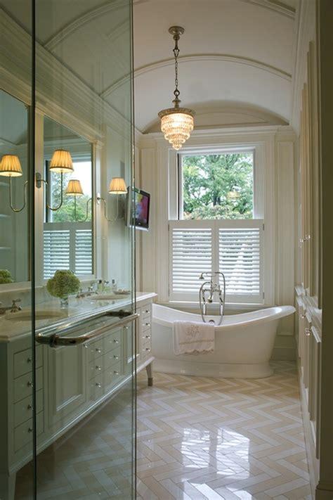 master bathroom flooring barrel ceiling design transitional bathroom
