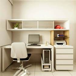 wonderful small home office design with white desk