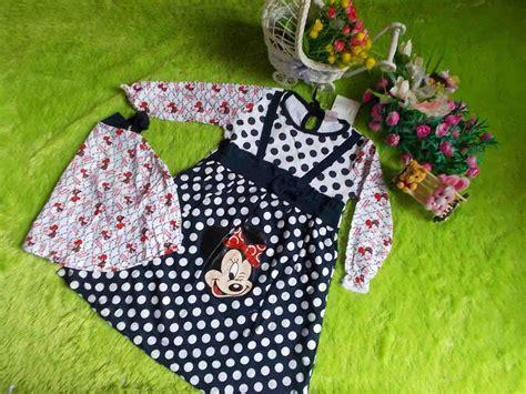 Bjk 506 Produsen Baju Koko plus jilbab gamis bayi mickey mouse navy jual gamis bayi