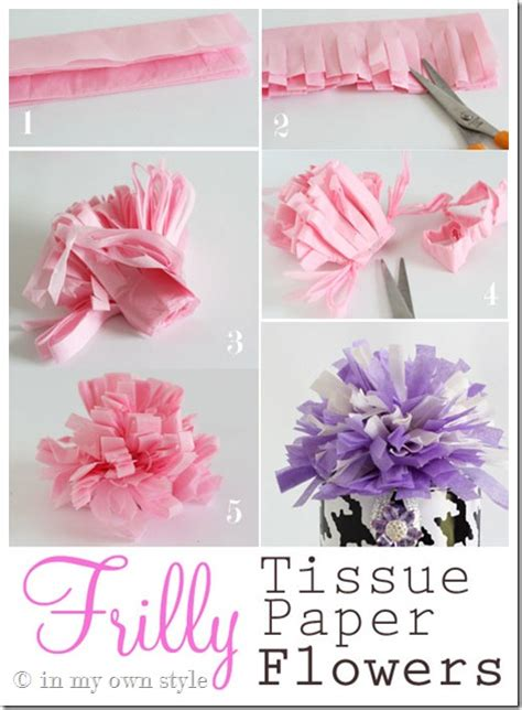 How To Fold A Tissue Paper Flower - transform flowers to look real in my own style