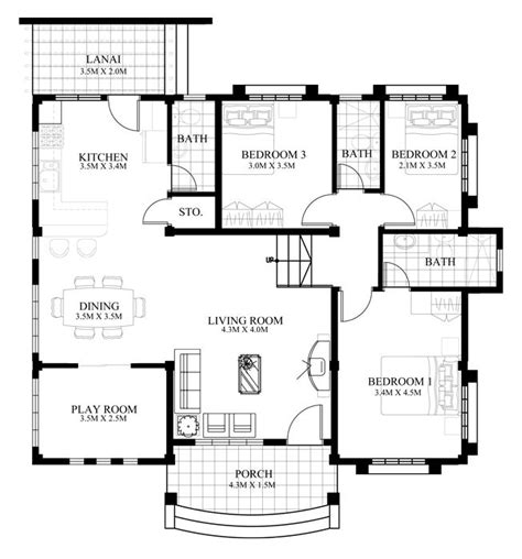 bungalow design house with 3 bedroom 150 square meters pinterest the world s catalog of ideas