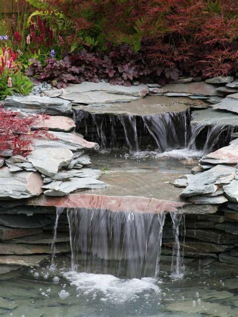 Wasserfall Im Garten 46 by Origineller Bachlauf Aus D 252 Nnen Steinplatten Mit