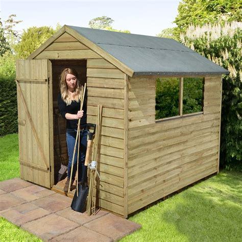 cedar storage shed  pressure treated overlap apex