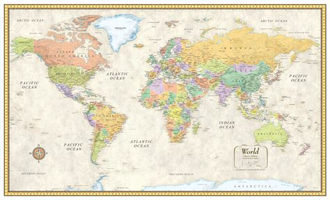 map world poster image gallery large world map poster