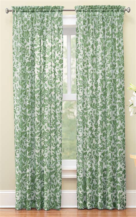 sheer crinkle curtains sheer scrolling leaves crinkled curtain panels by