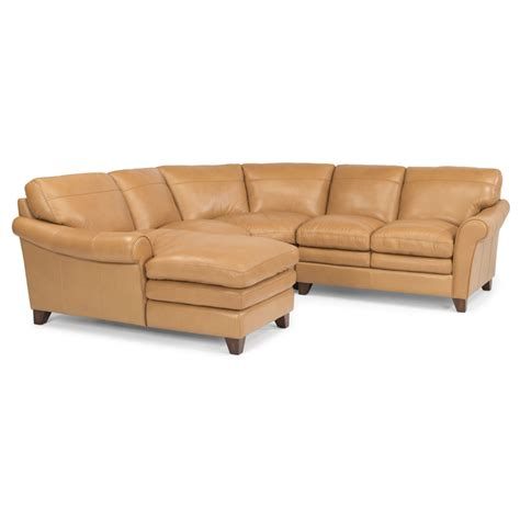 flexsteel sectional leather flexsteel 1749 sect sofia leather sectional discount
