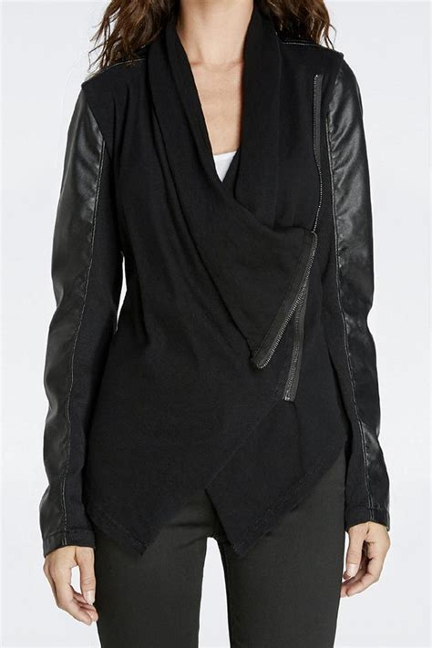 draped leather jacket blank nyc draped leather jacket from cleveland by april