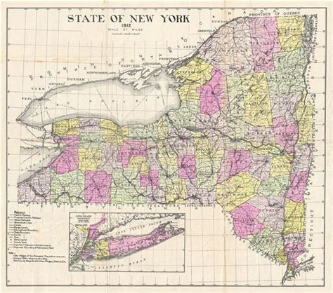 map of new york state state of new york geographicus antique maps
