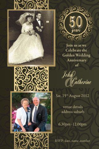 50th Wedding Anniversary Invitations With Pictures