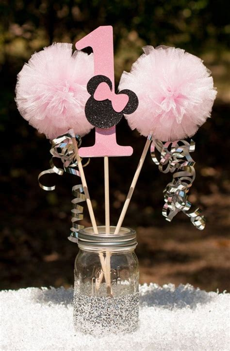 Minnie Mouse Party Pink And Gold Minnie Centerpiece Table