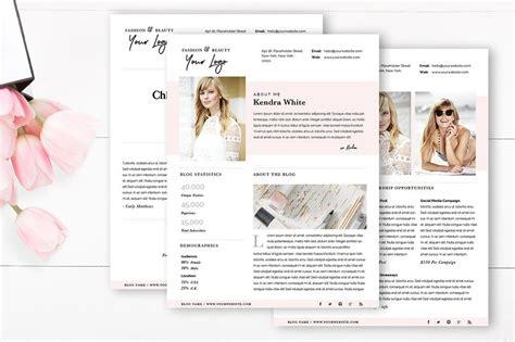 fashion blog templates for blogger 5 modern easy to edit media kit templates for bloggers