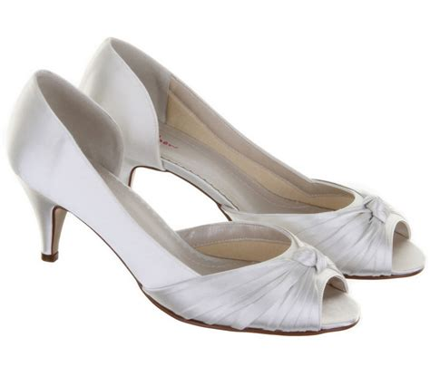 Wedding Shoes Dyeable by Rainbow Club Cheryl Ivory Dyeable Satin Wedding Shoes