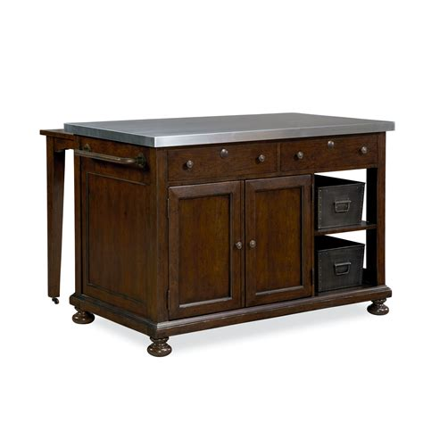 paula deen home river house river house kitchen island with stainless steel top reviews wayfair