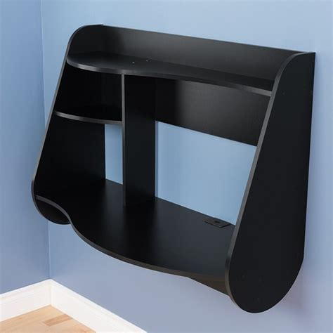 black floating desk floating desk in black behw 0901 1
