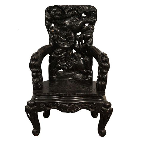 Vintage Etnik Cina Se 10 antique large carved arm chair for sale at 1stdibs