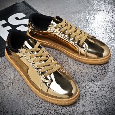Best Product Nike One High Sepatu Kets Sneakers Wanita Style aliexpress buy new 2017 patent leather golden color flat casual shoes cool guys hip