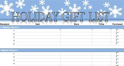 printable christmas gift list template christmas shopping list template new calendar template site