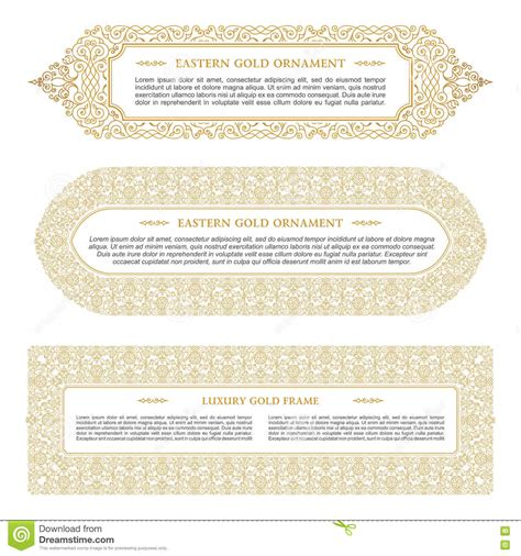 muslim will template eastern gold arabic vector lines design templates muslim
