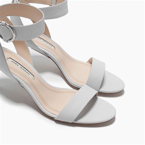 shoes with heels zara mid heel sandals with ankle mid heel sandals