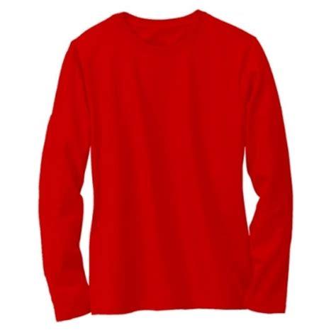 Kaos Distro Black Merah kaos polos lengan panjang warna merah terang oblong