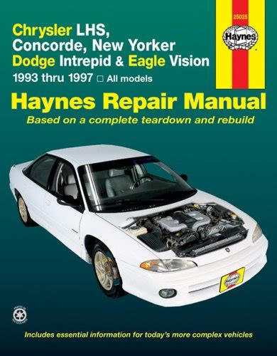 service and repair manuals 1996 chrysler concorde parking system chrysler lhs concorde new yorker dodge intrepid eagle vision 1993 thru 1997 all models