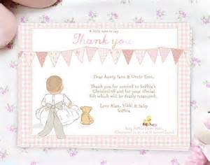 christening thank you note cards my bow by august grace notonthehighstreet