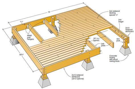 Freestanding Deck Plans by The Best Free Outdoor Deck Plans And Designs