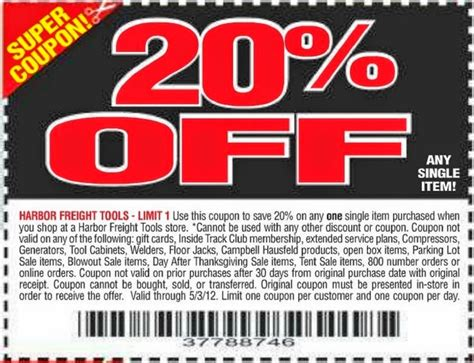 harbor freight coupons 20 off printable harbor freight tools coupon 2018 apple store student