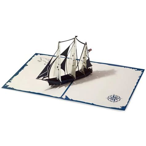 sailboat pop up card template 3d america sailing ship pop up card lovepop
