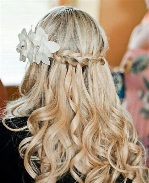 homecoming hairstyles waterfall braid homecoming hairstyles with braids and curls