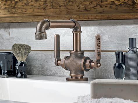 industrial bathroom faucet industrial style faucets by watermark to give your