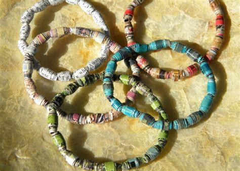 paper bead homework a creative upcycling paper